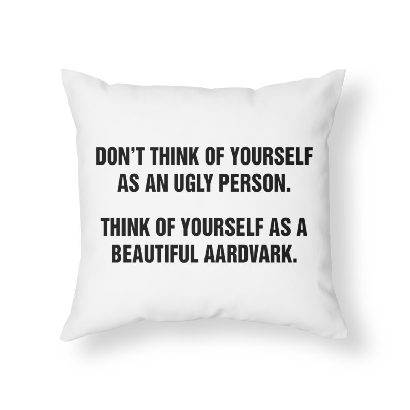 """SIDE EYE/""""Ugly Person"""" (Black) Home Throw Pillow by Josh Sabarra's Shop"""