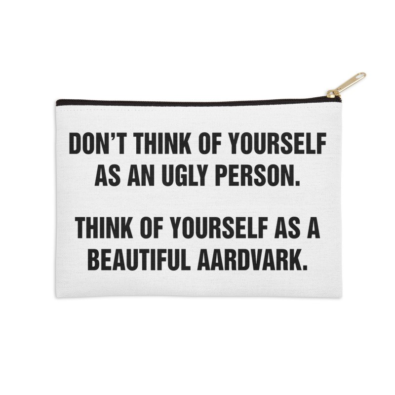 "SIDE EYE/""Ugly Person"" (Black) Accessories Zip Pouch by Josh Sabarra's Shop"