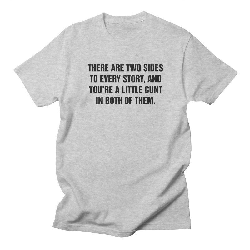 "SIDE EYE/""Both Sides Now"" (Black) Women's Unisex T-Shirt by Josh Sabarra's Shop"