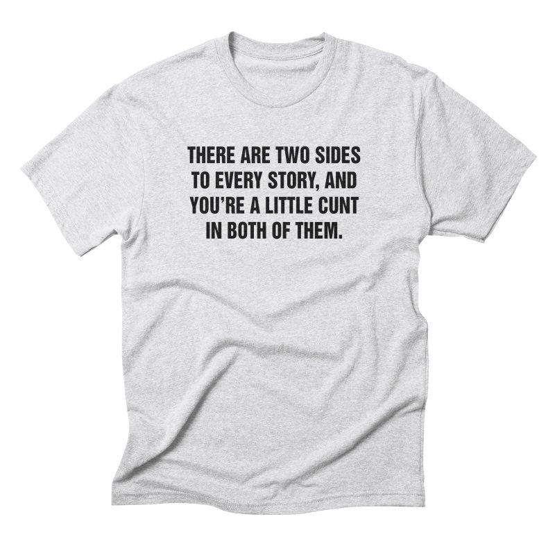 "SIDE EYE/""Both Sides Now"" (Black) Men's Triblend T-Shirt by Josh Sabarra's Shop"