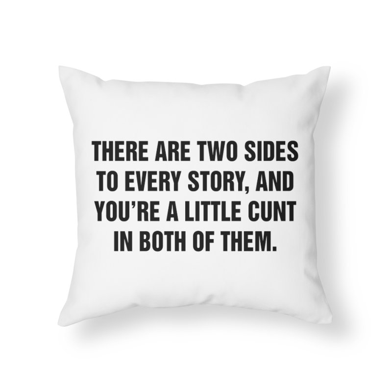 """SIDE EYE/""""Both Sides Now"""" (Black) Home Throw Pillow by Josh Sabarra's Shop"""