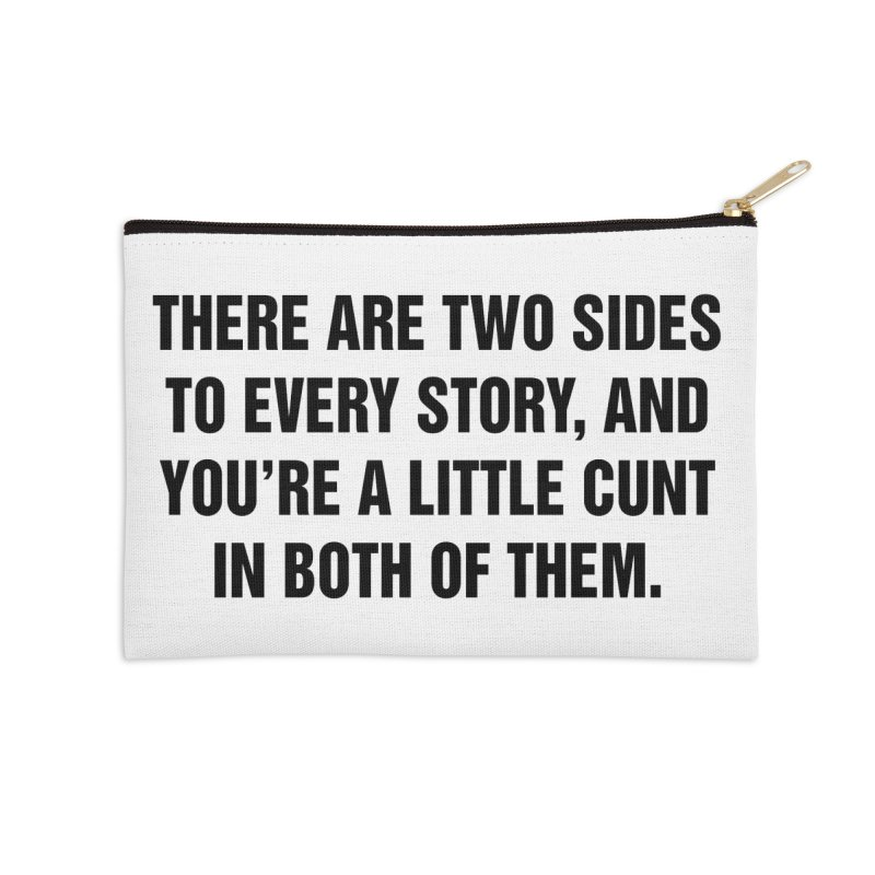 "SIDE EYE/""Both Sides Now"" (Black) Accessories Zip Pouch by Josh Sabarra's Shop"