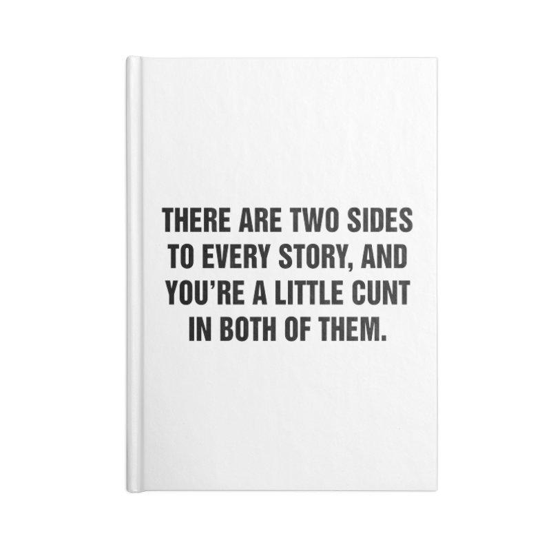 "SIDE EYE/""Both Sides Now"" (Black) Accessories Notebook by Josh Sabarra's Shop"