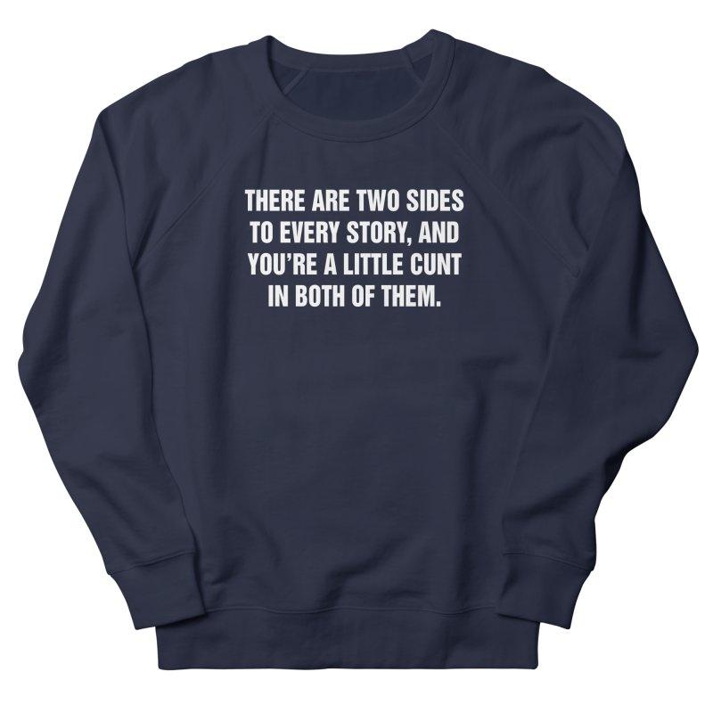 "SIDE EYE/""Both Sides Now"" (White) Men's Sweatshirt by Josh Sabarra's Shop"