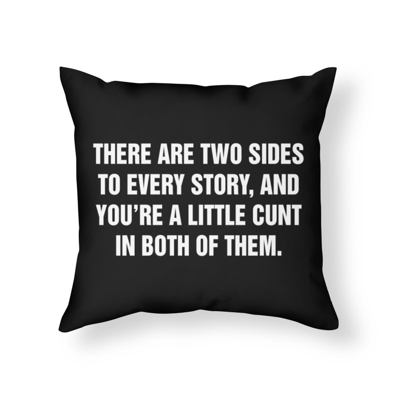 """SIDE EYE/""""Both Sides Now"""" (White) Home Throw Pillow by Josh Sabarra's Shop"""