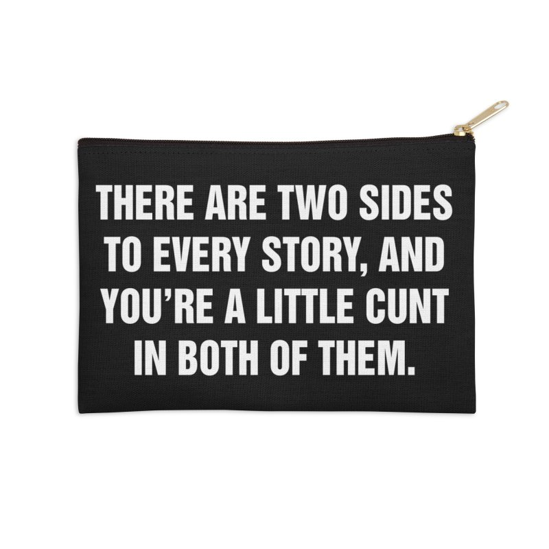 "SIDE EYE/""Both Sides Now"" (White) Accessories Zip Pouch by Josh Sabarra's Shop"