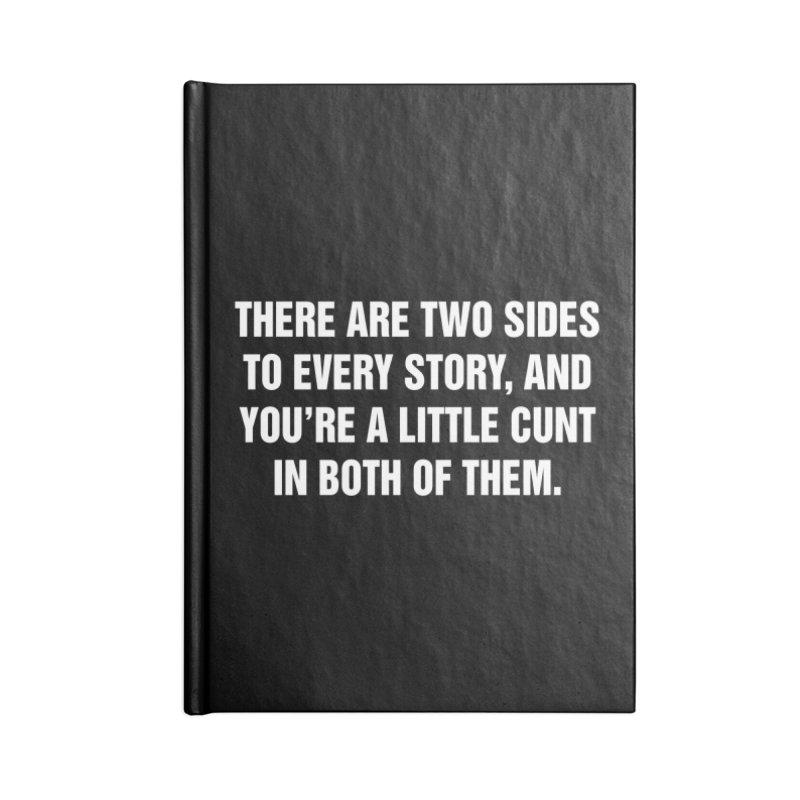"SIDE EYE/""Both Sides Now"" (White) Accessories Notebook by Josh Sabarra's Shop"