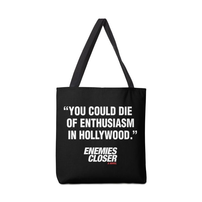 "ENEMIES CLOSER/""Die of Enthusiasm"" (White, 2) Accessories Bag by Josh Sabarra's Shop"