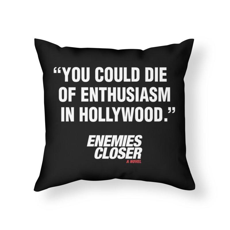 "ENEMIES CLOSER/""Die of Enthusiasm"" (White, 2) Home Throw Pillow by Josh Sabarra's Shop"