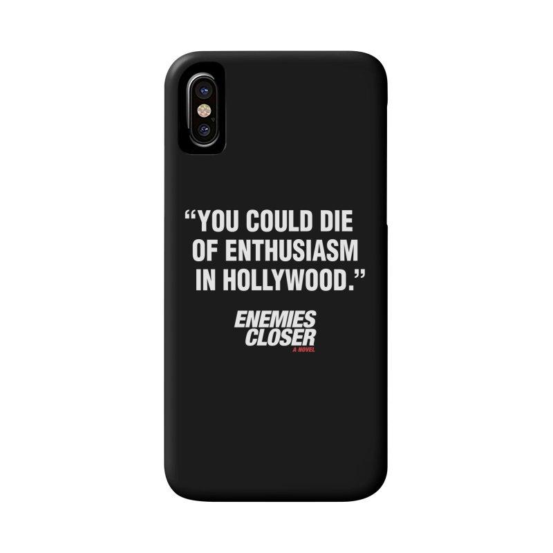 "ENEMIES CLOSER/""Die of Enthusiasm"" (White, 2) Accessories Phone Case by Josh Sabarra's Shop"