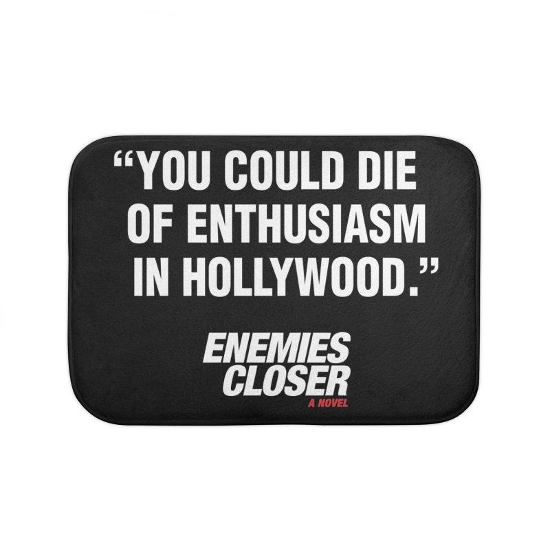 """ENEMIES CLOSER/""""Die of Enthusiasm"""" (White, 2) Home Bath Mat by Josh Sabarra's Shop"""