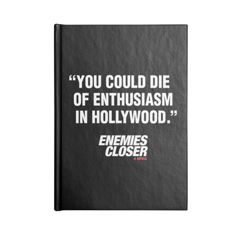 "ENEMIES CLOSER/""Die of Enthusiasm"" (White, 2) Accessories Notebook by Josh Sabarra's Shop"