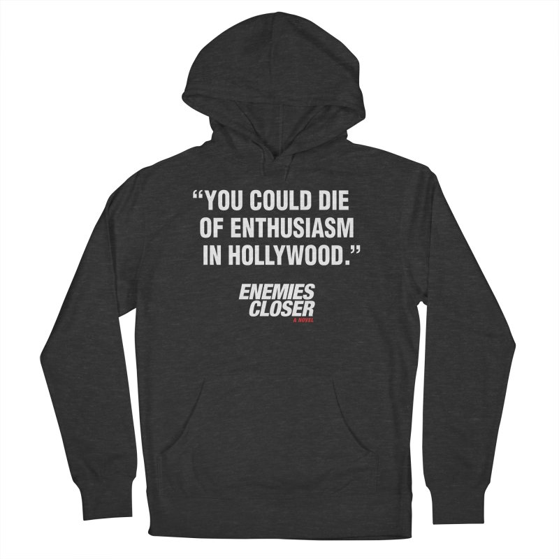 "ENEMIES CLOSER/""Die of Enthusiasm"" (White, 2) Women's Pullover Hoody by Josh Sabarra's Shop"