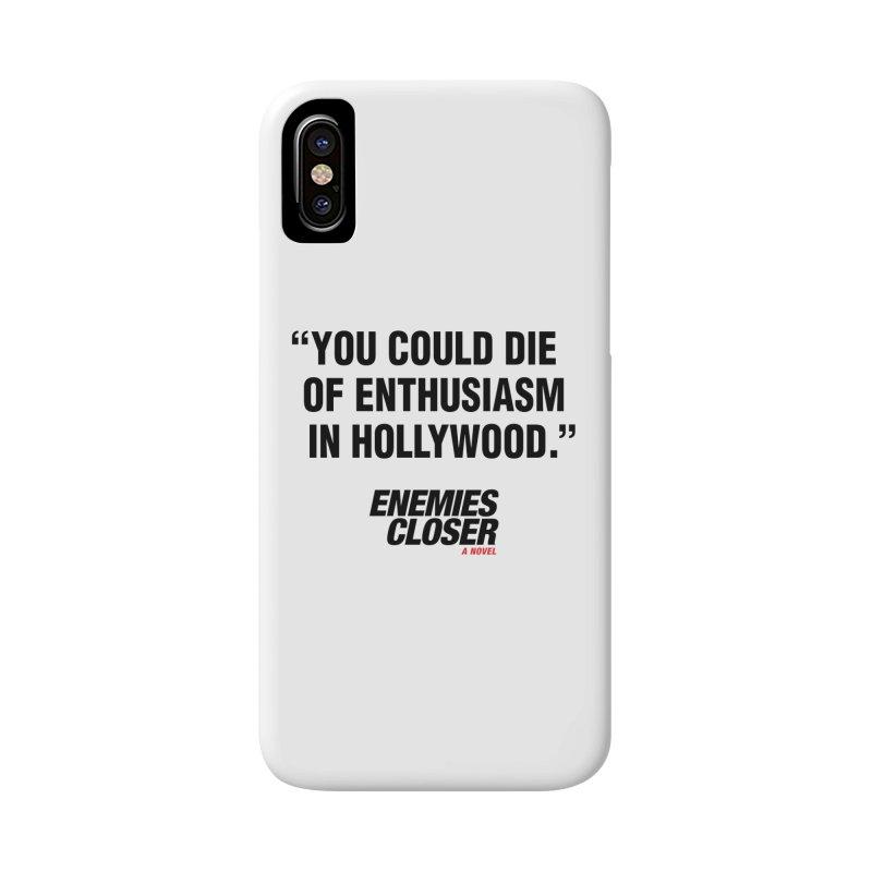 "ENEMIES CLOSER/""Die of Enthusiasm"" (Black, 2) Accessories Phone Case by Josh Sabarra's Shop"