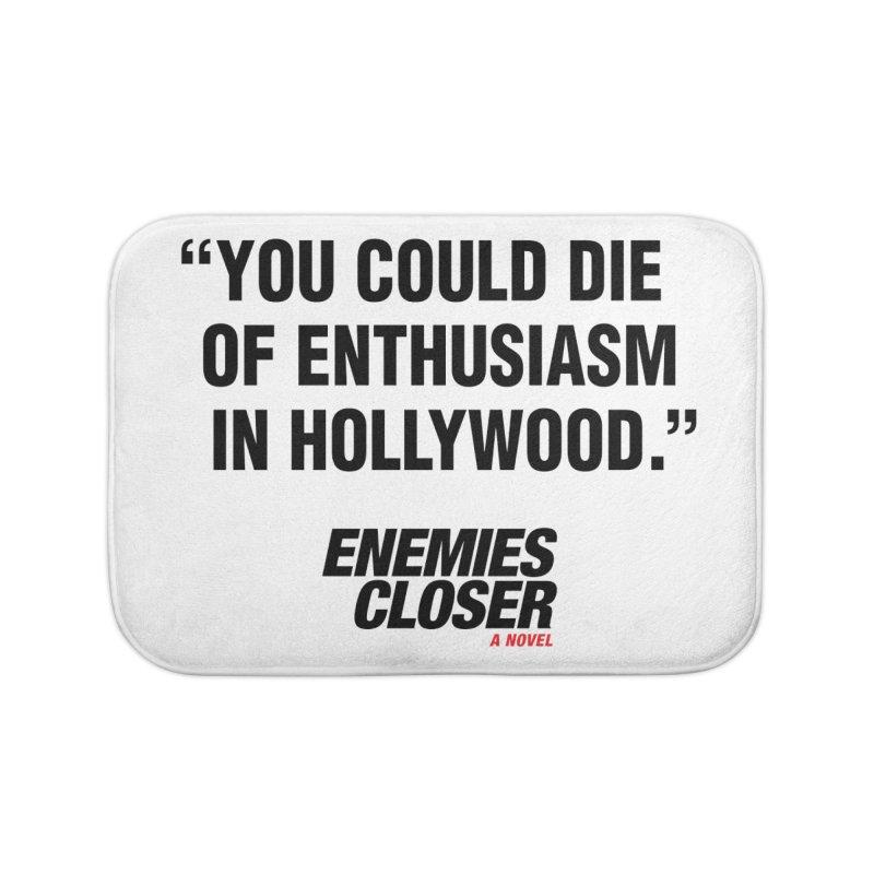 "ENEMIES CLOSER/""Die of Enthusiasm"" (Black, 2) Home Bath Mat by Josh Sabarra's Shop"