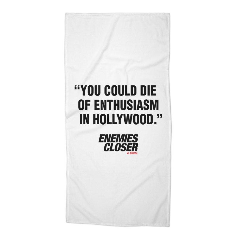 "ENEMIES CLOSER/""Die of Enthusiasm"" (Black, 2) Accessories Beach Towel by Josh Sabarra's Shop"