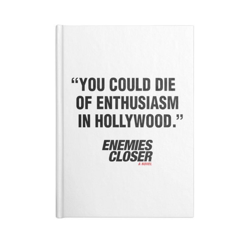"ENEMIES CLOSER/""Die of Enthusiasm"" (Black, 2) Accessories Notebook by Josh Sabarra's Shop"