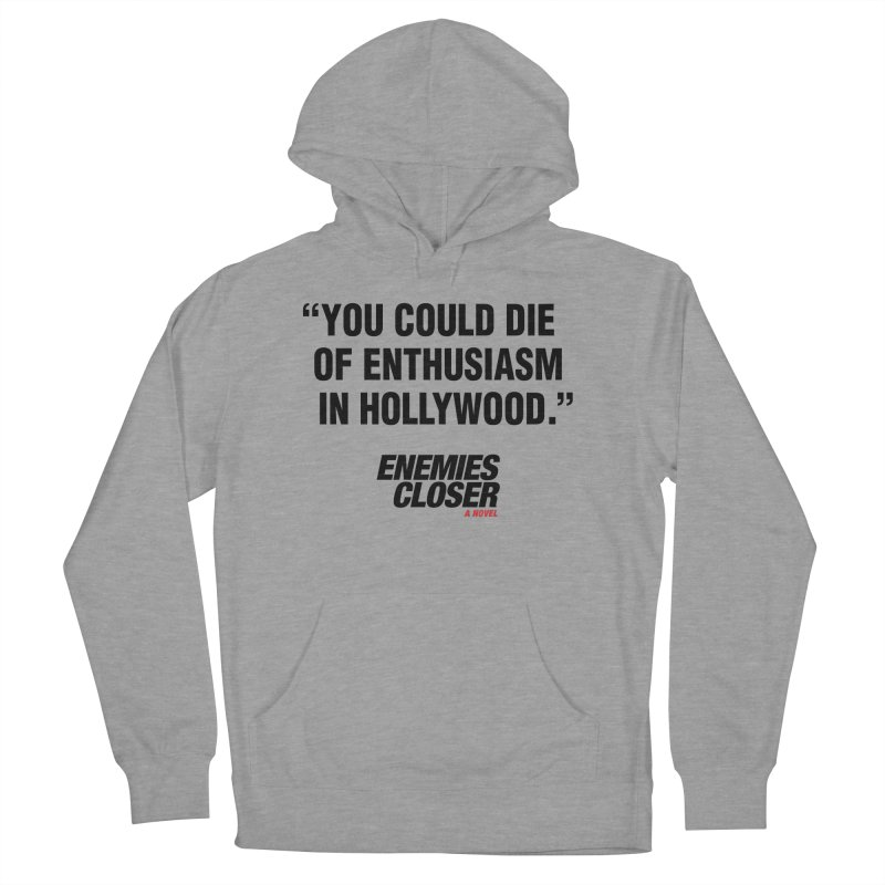 "ENEMIES CLOSER/""Die of Enthusiasm"" (Black, 2) Women's Pullover Hoody by Josh Sabarra's Shop"