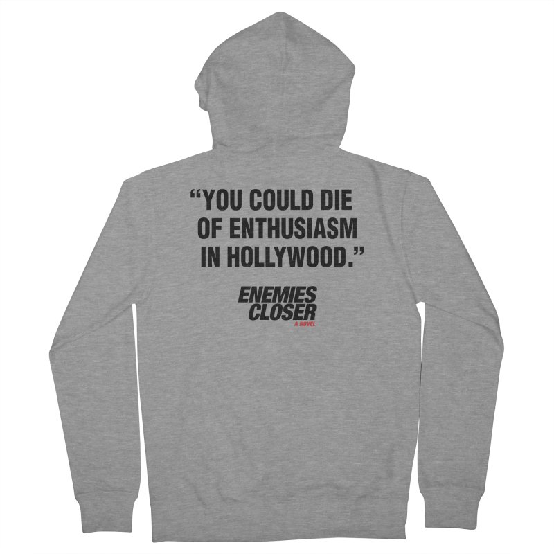 "ENEMIES CLOSER/""Die of Enthusiasm"" (Black, 2) Men's Zip-Up Hoody by Josh Sabarra's Shop"