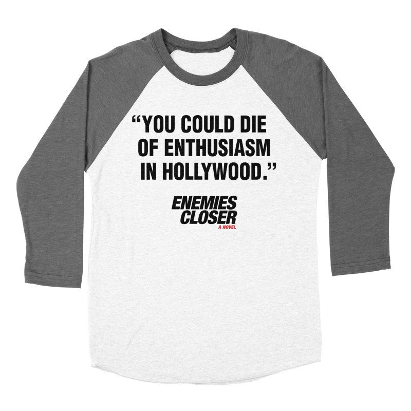 "ENEMIES CLOSER/""Die of Enthusiasm"" (Black, 2) Men's Baseball Triblend T-Shirt by Josh Sabarra's Shop"