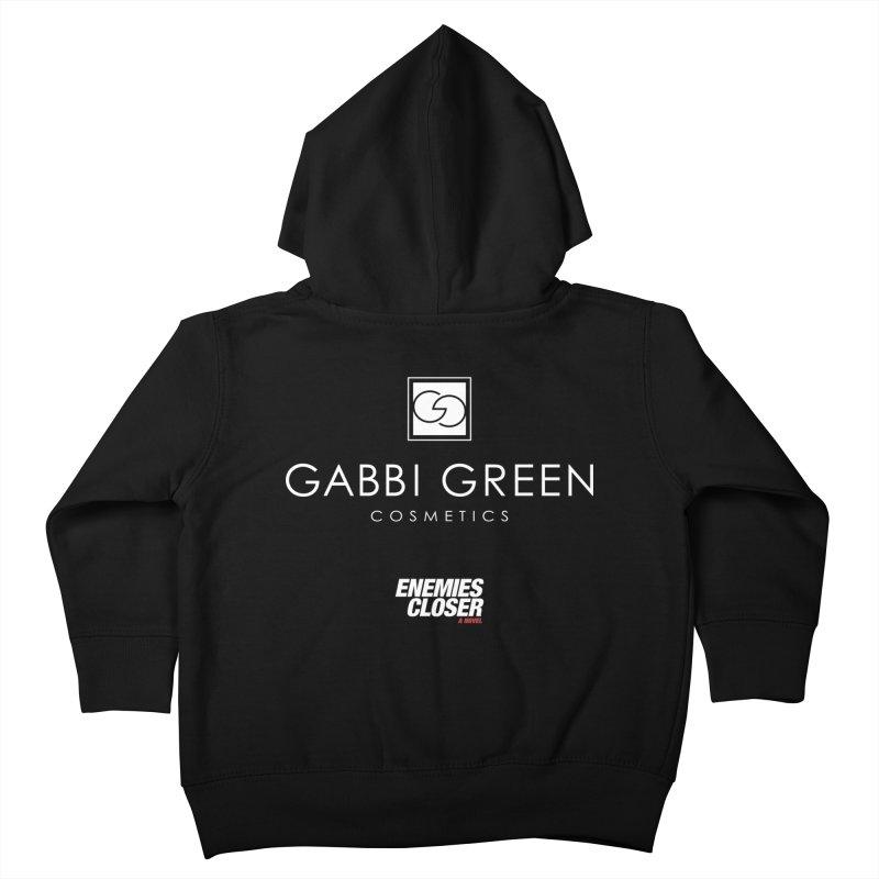 "ENEMIES CLOSER/""Gabbi Green"" (White) Kids Toddler Zip-Up Hoody by Josh Sabarra's Shop"