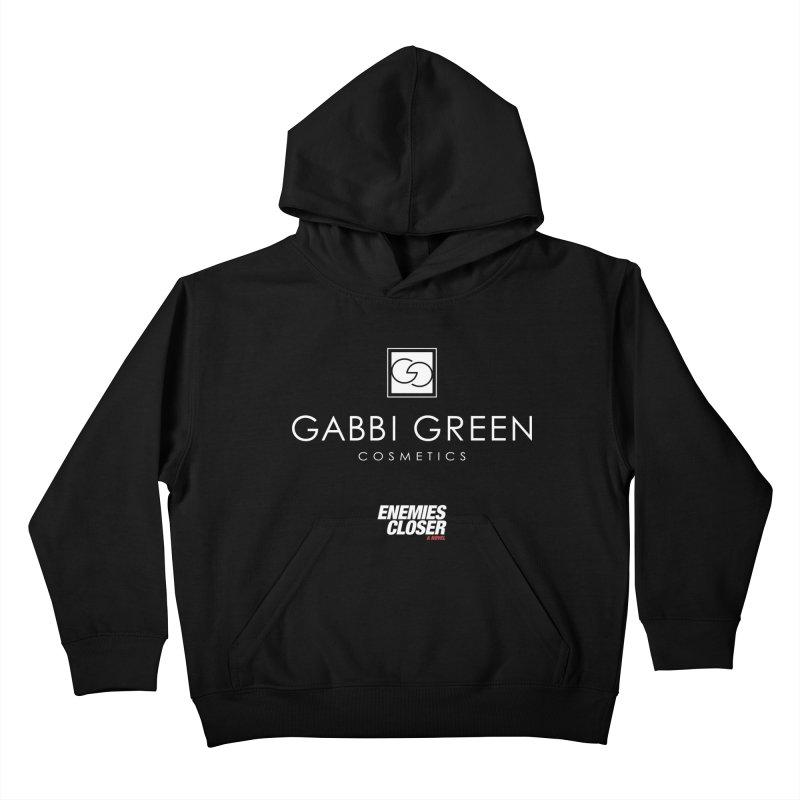 "ENEMIES CLOSER/""Gabbi Green"" (White) Kids Pullover Hoody by Josh Sabarra's Shop"