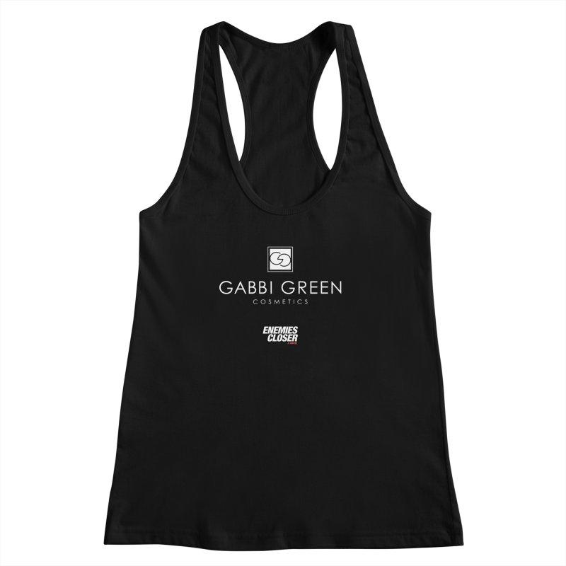 "ENEMIES CLOSER/""Gabbi Green"" (White) Women's Racerback Tank by Josh Sabarra's Shop"