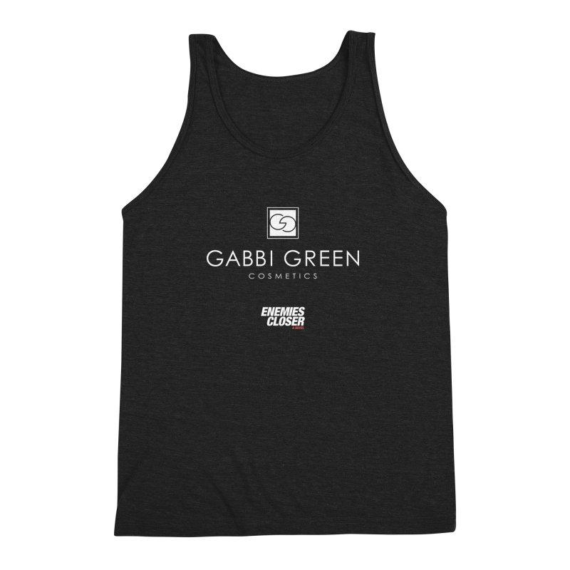 "ENEMIES CLOSER/""Gabbi Green"" (White) Men's Triblend Tank by Josh Sabarra's Shop"