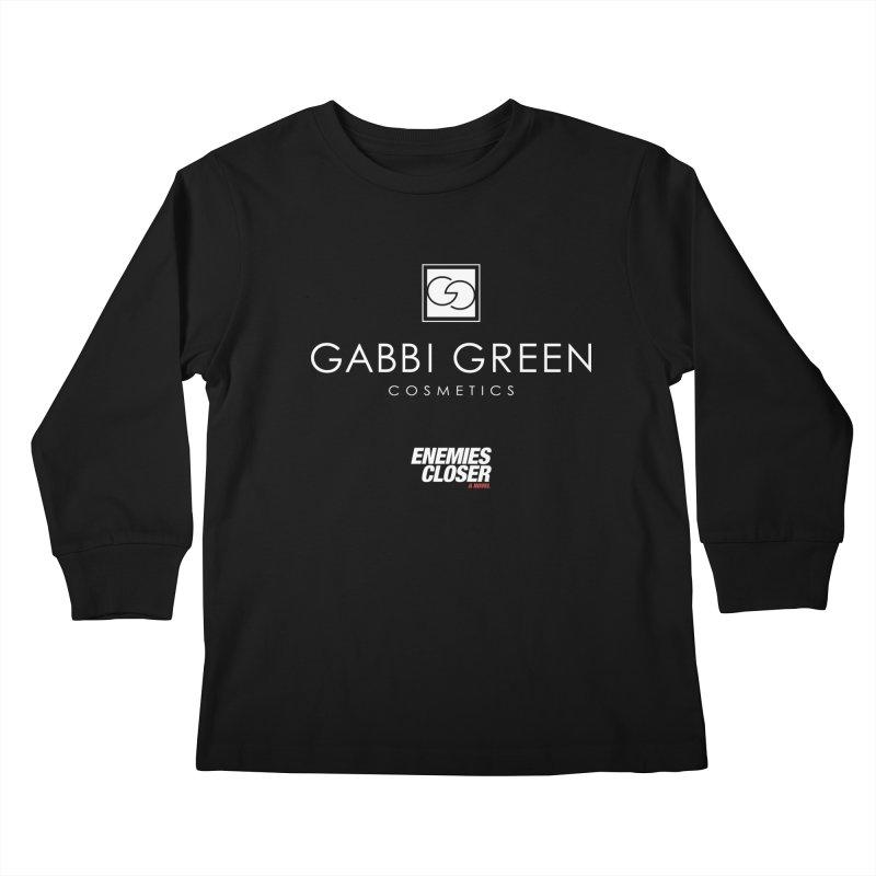 "ENEMIES CLOSER/""Gabbi Green"" (White) Kids Longsleeve T-Shirt by Josh Sabarra's Shop"