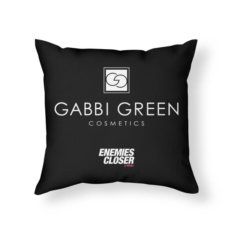 """ENEMIES CLOSER/""""Gabbi Green"""" (White) Home Throw Pillow by Josh Sabarra's Shop"""