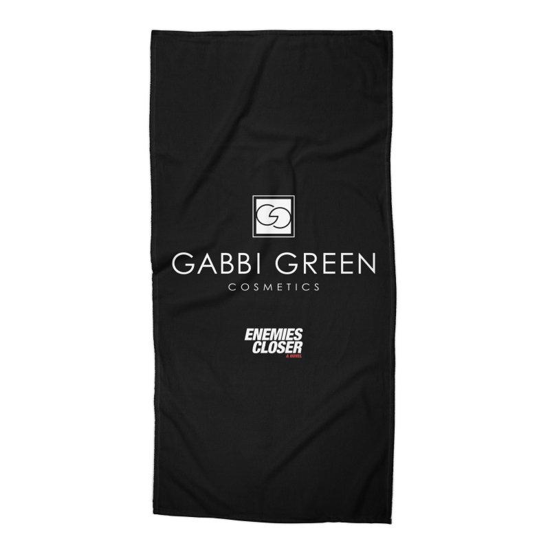 """ENEMIES CLOSER/""""Gabbi Green"""" (White) Accessories Beach Towel by Josh Sabarra's Shop"""