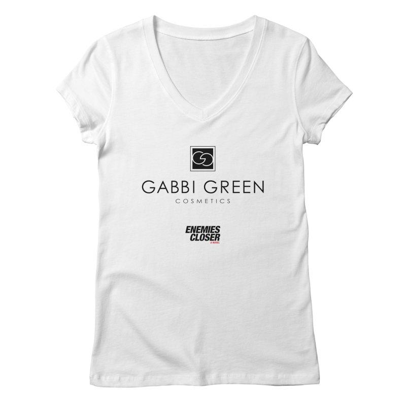 "ENEMIES CLOSER/""Gabbi Green"" (Black) Women's V-Neck by Josh Sabarra's Shop"