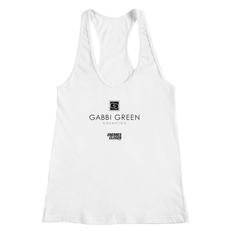 "ENEMIES CLOSER/""Gabbi Green"" (Black) Women's Racerback Tank by Josh Sabarra's Shop"