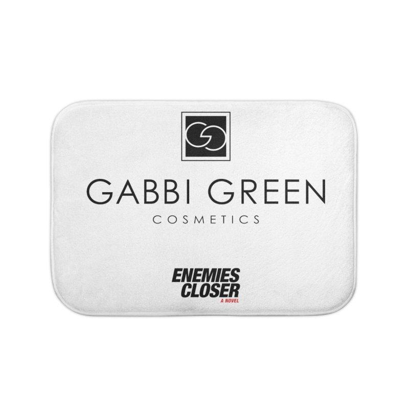 "ENEMIES CLOSER/""Gabbi Green"" (Black) Home Bath Mat by Josh Sabarra's Shop"