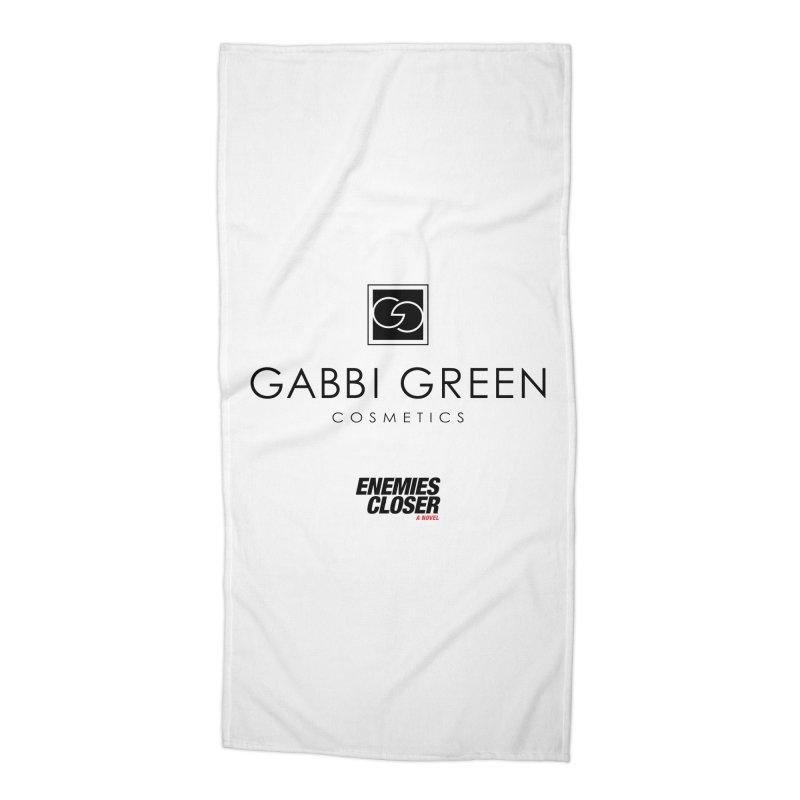 "ENEMIES CLOSER/""Gabbi Green"" (Black) Accessories Beach Towel by Josh Sabarra's Shop"