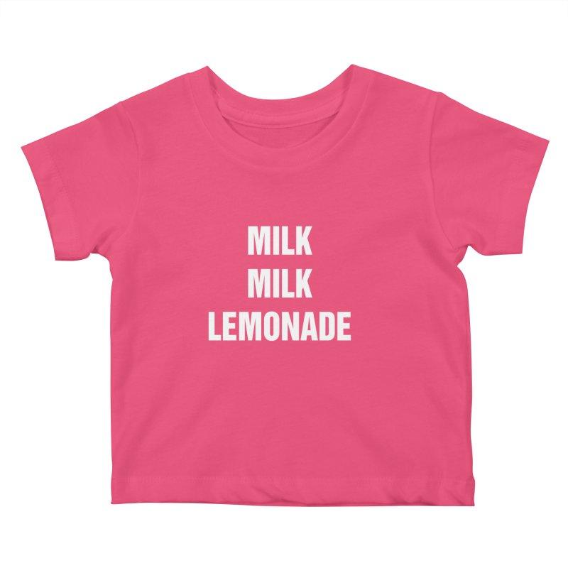 """SIDE EYE/""""Milk Milk"""" (White) Kids Baby T-Shirt by Josh Sabarra's Shop"""