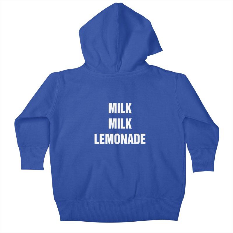 "SIDE EYE/""Milk Milk"" (White) Kids Baby Zip-Up Hoody by Josh Sabarra's Shop"