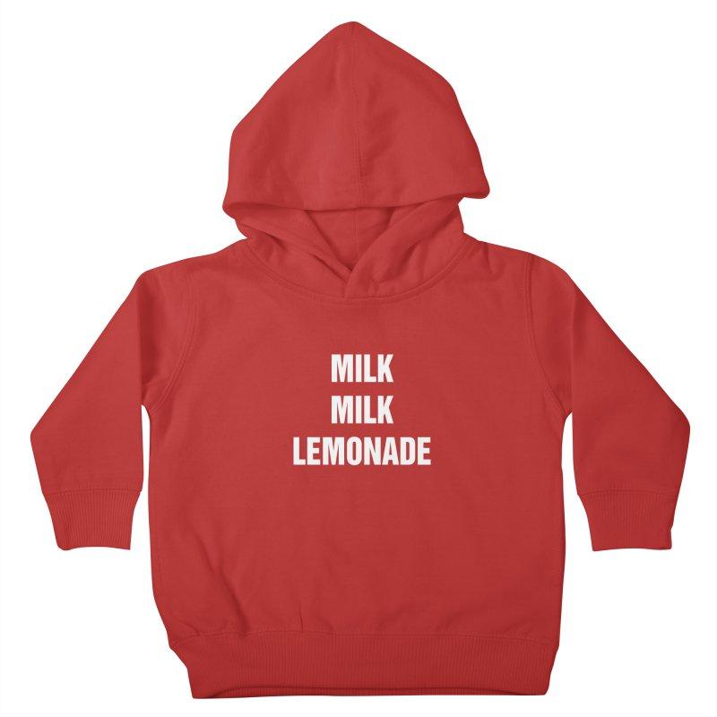 """SIDE EYE/""""Milk Milk"""" (White) Kids Toddler Pullover Hoody by Josh Sabarra's Shop"""