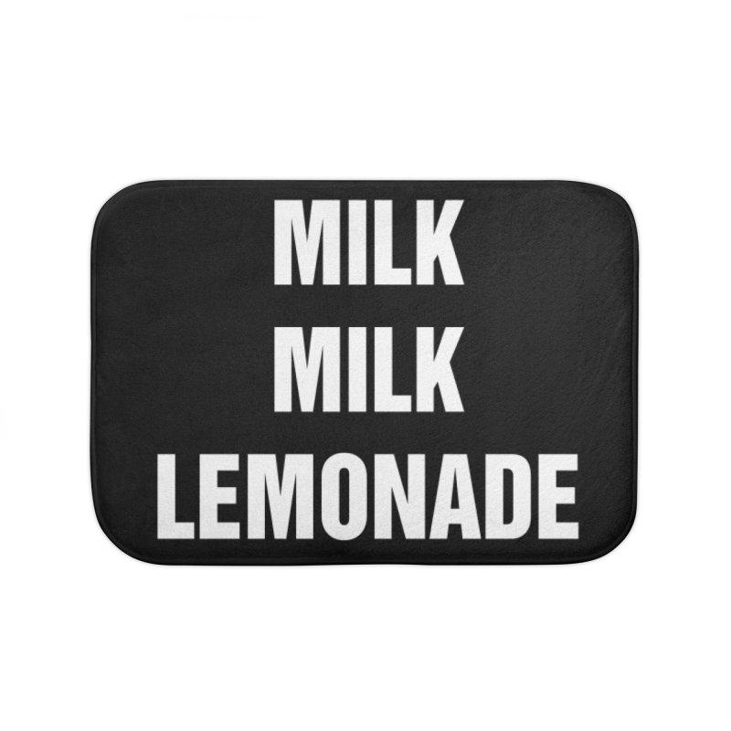 "SIDE EYE/""Milk Milk"" (White) Home Bath Mat by Josh Sabarra's Shop"