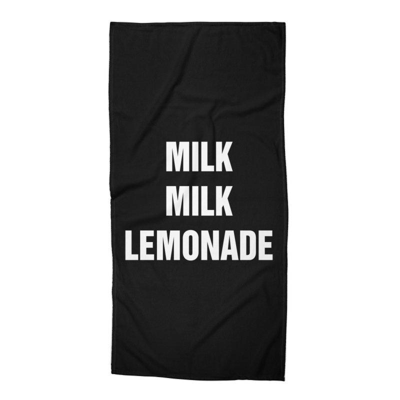 """SIDE EYE/""""Milk Milk"""" (White) Accessories Beach Towel by Josh Sabarra's Shop"""