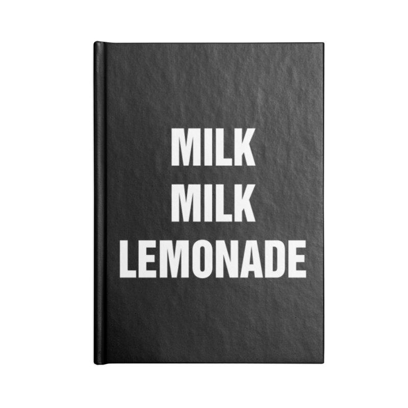 """SIDE EYE/""""Milk Milk"""" (White) Accessories Notebook by Josh Sabarra's Shop"""