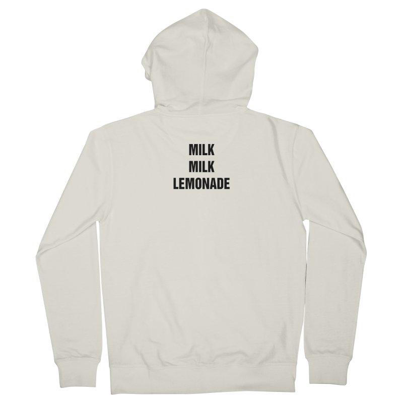 "SIDE EYE/""Milk, Milk"" (Black) Women's Zip-Up Hoody by Josh Sabarra's Shop"