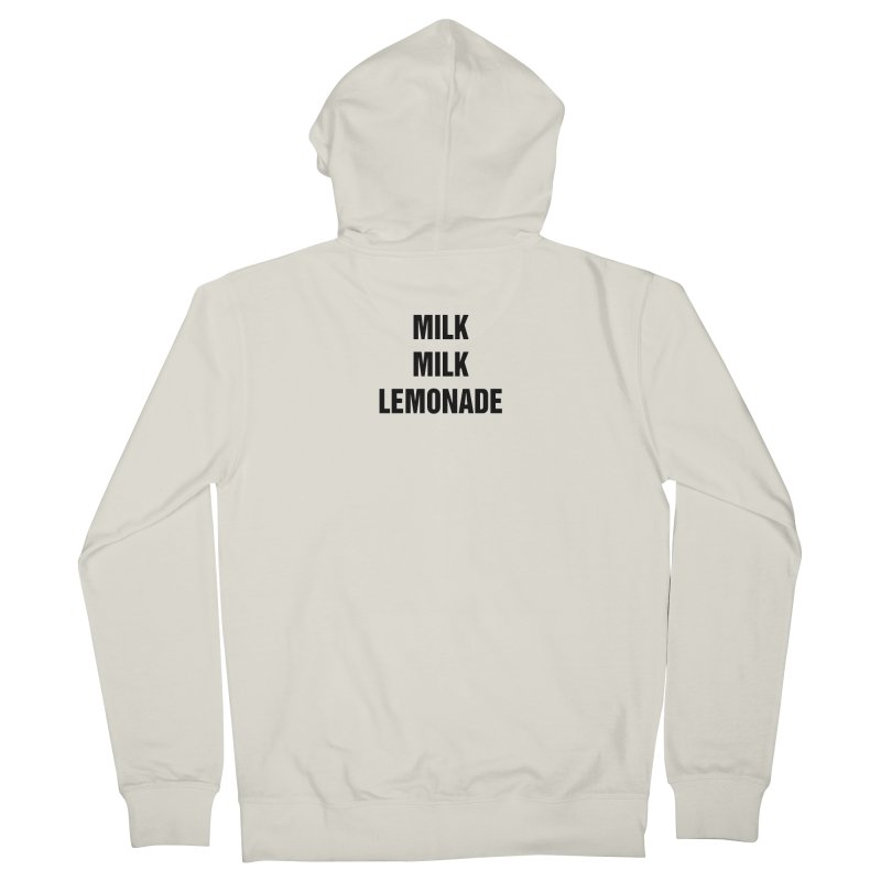 "SIDE EYE/""Milk, Milk"" (Black) Men's Zip-Up Hoody by Josh Sabarra's Shop"
