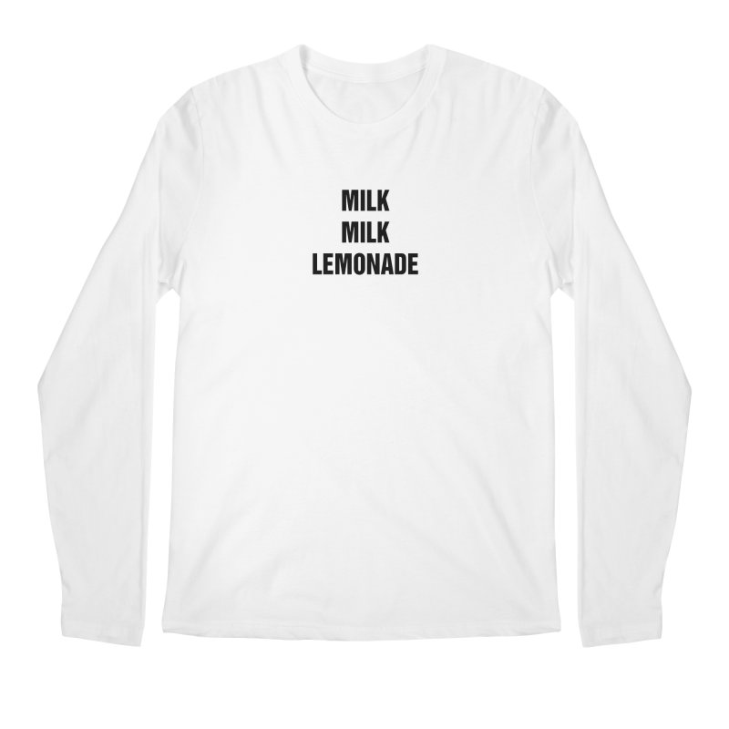 "SIDE EYE/""Milk, Milk"" (Black) Men's Regular Longsleeve T-Shirt by Josh Sabarra's Shop"