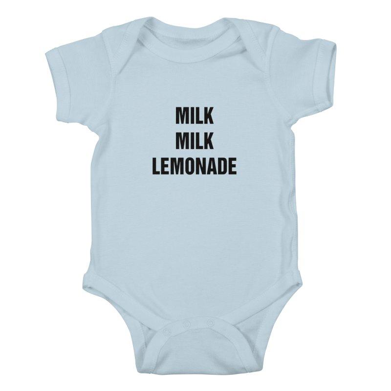 "SIDE EYE/""Milk, Milk"" (Black) Kids Baby Bodysuit by Josh Sabarra's Shop"