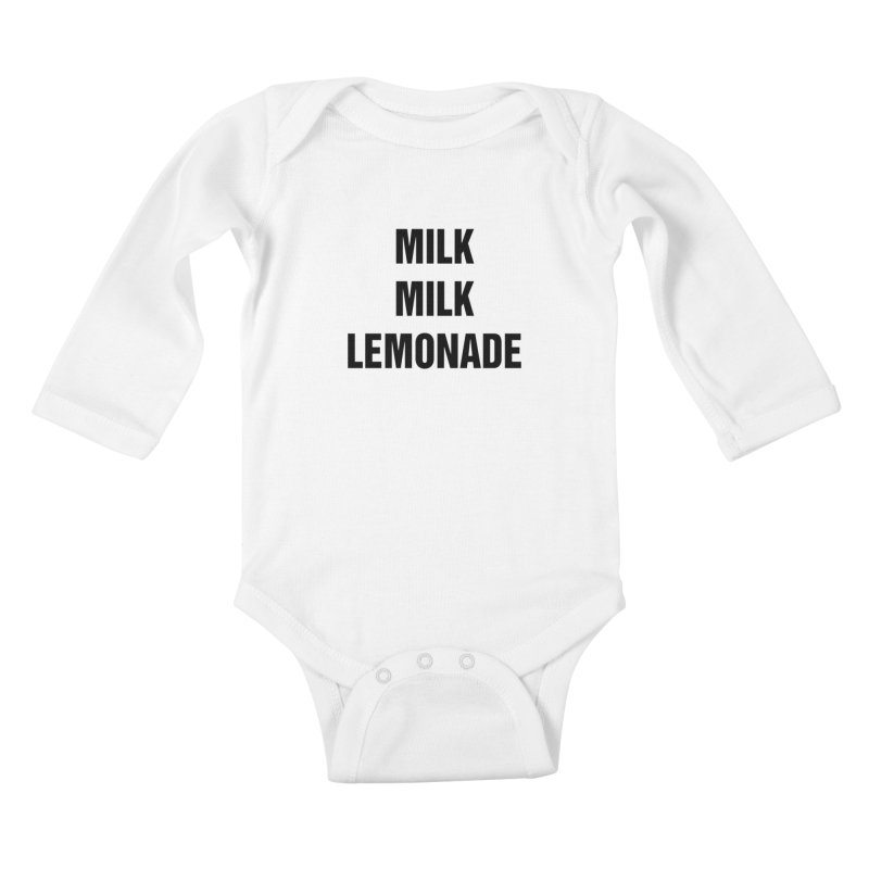 "SIDE EYE/""Milk, Milk"" (Black) Kids Baby Longsleeve Bodysuit by Josh Sabarra's Shop"