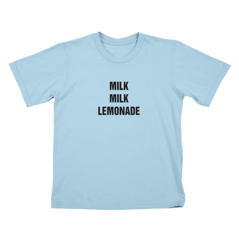 "SIDE EYE/""Milk, Milk"" (Black) Kids T-Shirt by Josh Sabarra's Shop"