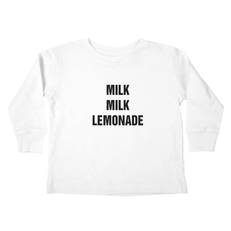 "SIDE EYE/""Milk, Milk"" (Black) Kids Toddler Longsleeve T-Shirt by Josh Sabarra's Shop"