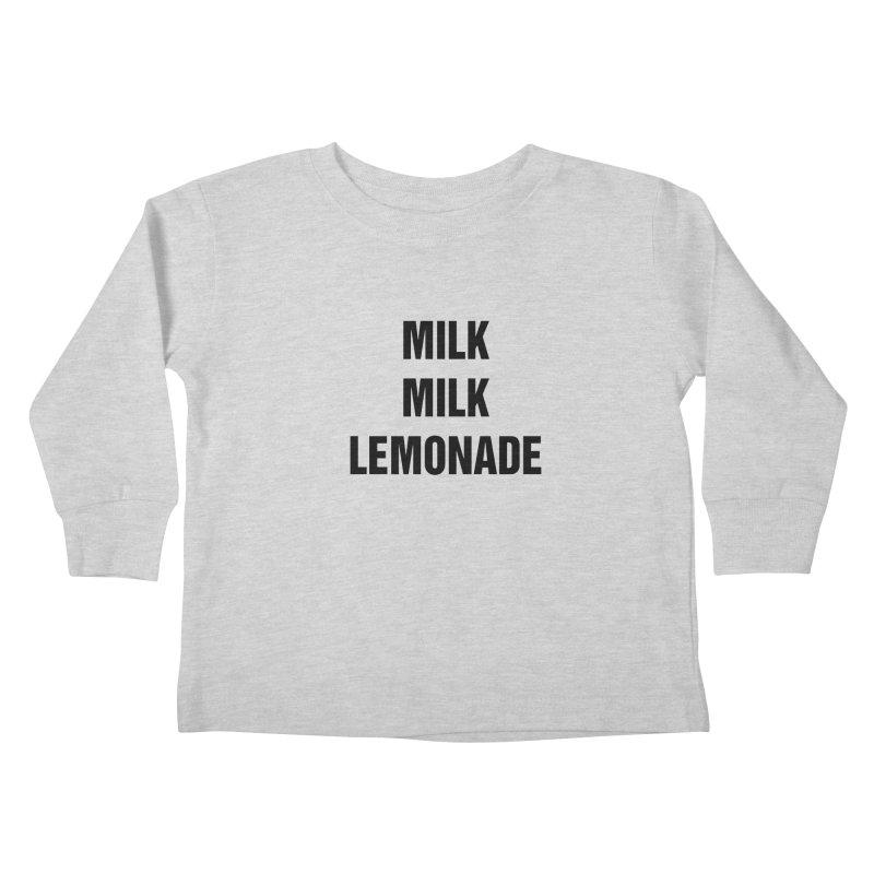 "SIDE EYE/""Milk, Milk"" (Black) Kids Toddler Longsleeve T-Shirt by Josh Sabarra's Shop"