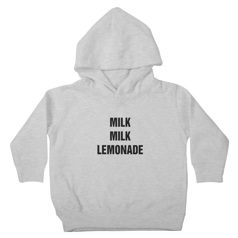 "SIDE EYE/""Milk, Milk"" (Black) Kids Toddler Pullover Hoody by Josh Sabarra's Shop"